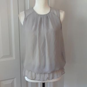 Max Rave Grey Sheer Blouse